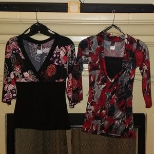 Pair of Wrapper Tops, Sm & XS